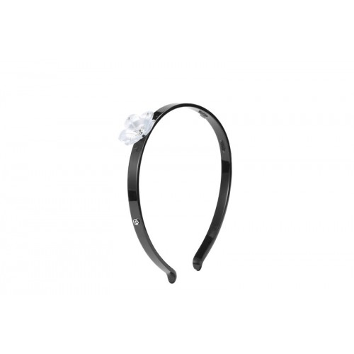 Acetate Grey Flower Hair Band