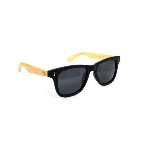 Harry Bamboo Temple Wayfarer Polarized Sunglasses