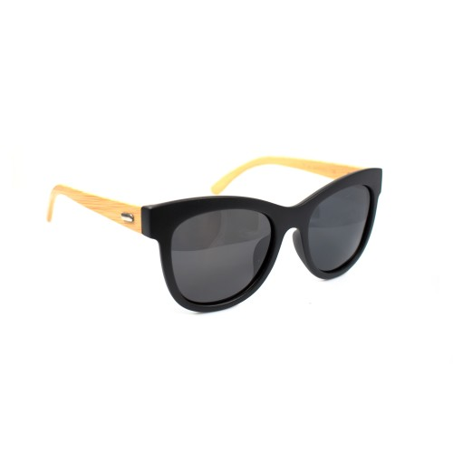 Henry Bamboo Temple Wayfarer Polarized Sunglasses