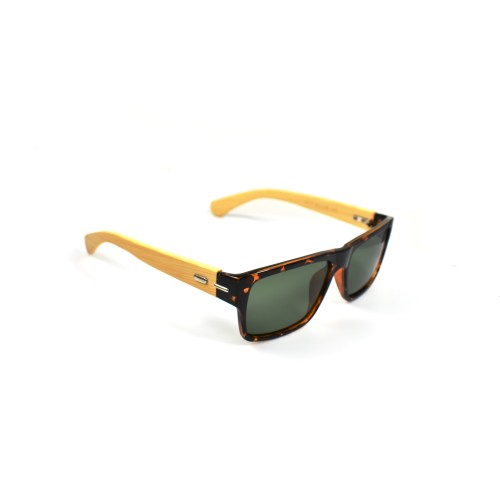Hayden Bamboo Temple Wayfarer Polarized Grey Lenses