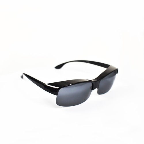 Sheldon Black Half Frame Polarised Wearover