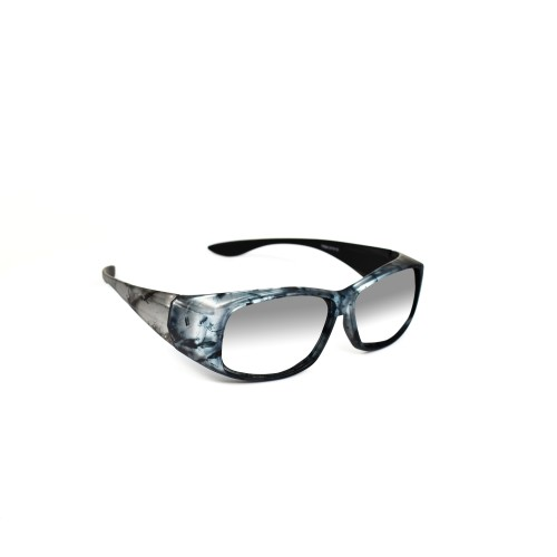 Sabra Grey Polarized Wearover Reflective Lenses