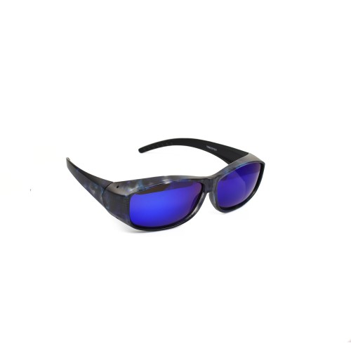 Sam Black Polarized Wearover Blue Lenses