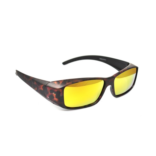 Sam Tortoise Orange Polarised Revo Lenses Wearover