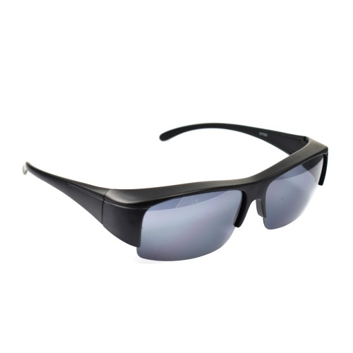 Shay Matte Black Half Frame Wearover Polarized
