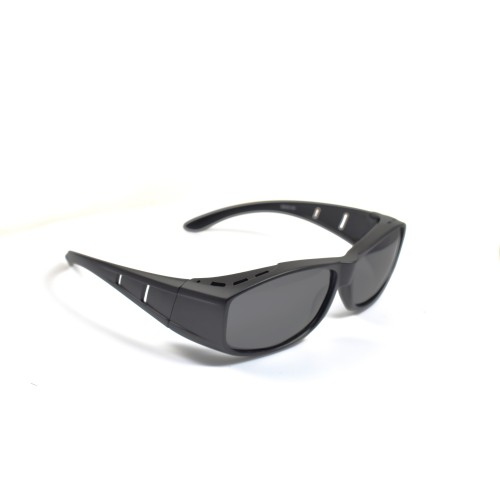 Xeno Black Half Frame Wearover Polarized