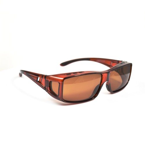 Xen Brown Wearover Brown Tinted Polarised Lenses
