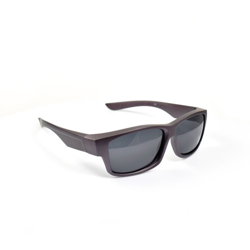 Shannon Matte Purple Wayfarer Wearover Polarized