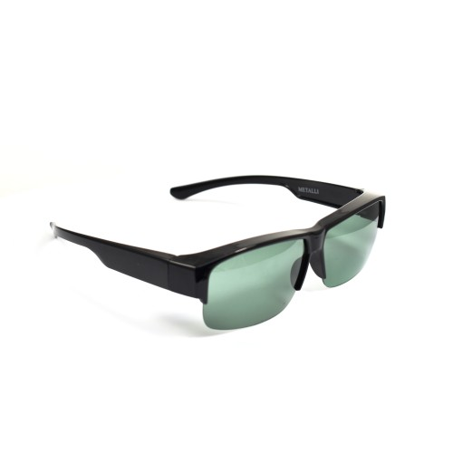 Xylon Black Polarized Half Frame Grey Lenses Wearover