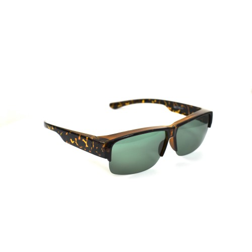 Xylon Tortoise Brown Polarized Half Frame Grey Lenses Wearover
