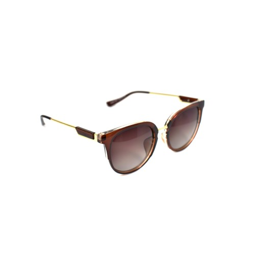 Holly Brown Ladies Polarzied Gold Detailing Cateye
