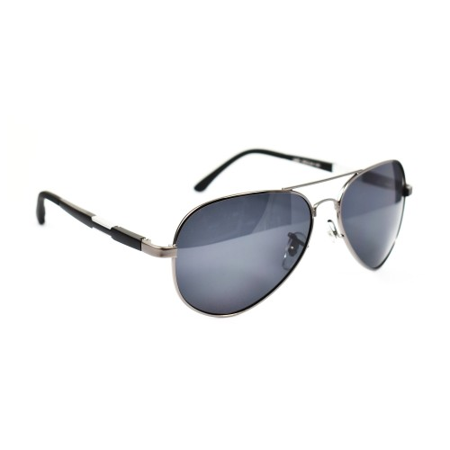 Vernon Black Aviator Polarized Sunglasses