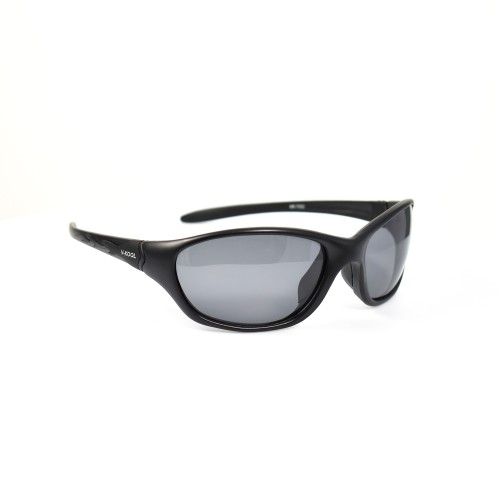Vincent Black Sports Polarized Grey Lens Sunglasses