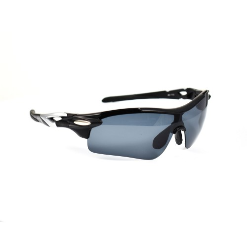 Virgilio Black Sports Polarized Sunglasses
