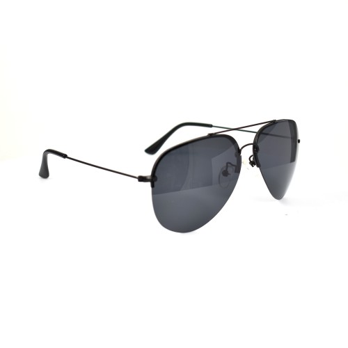 Vinn Black Aviator Polarized Sunglasses