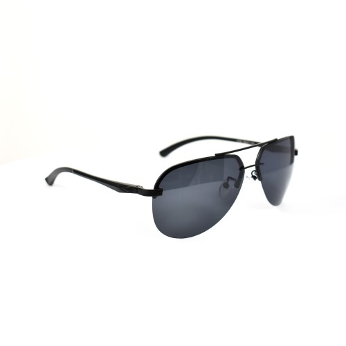 Vidal Black Aviator Polarized Sunglasses