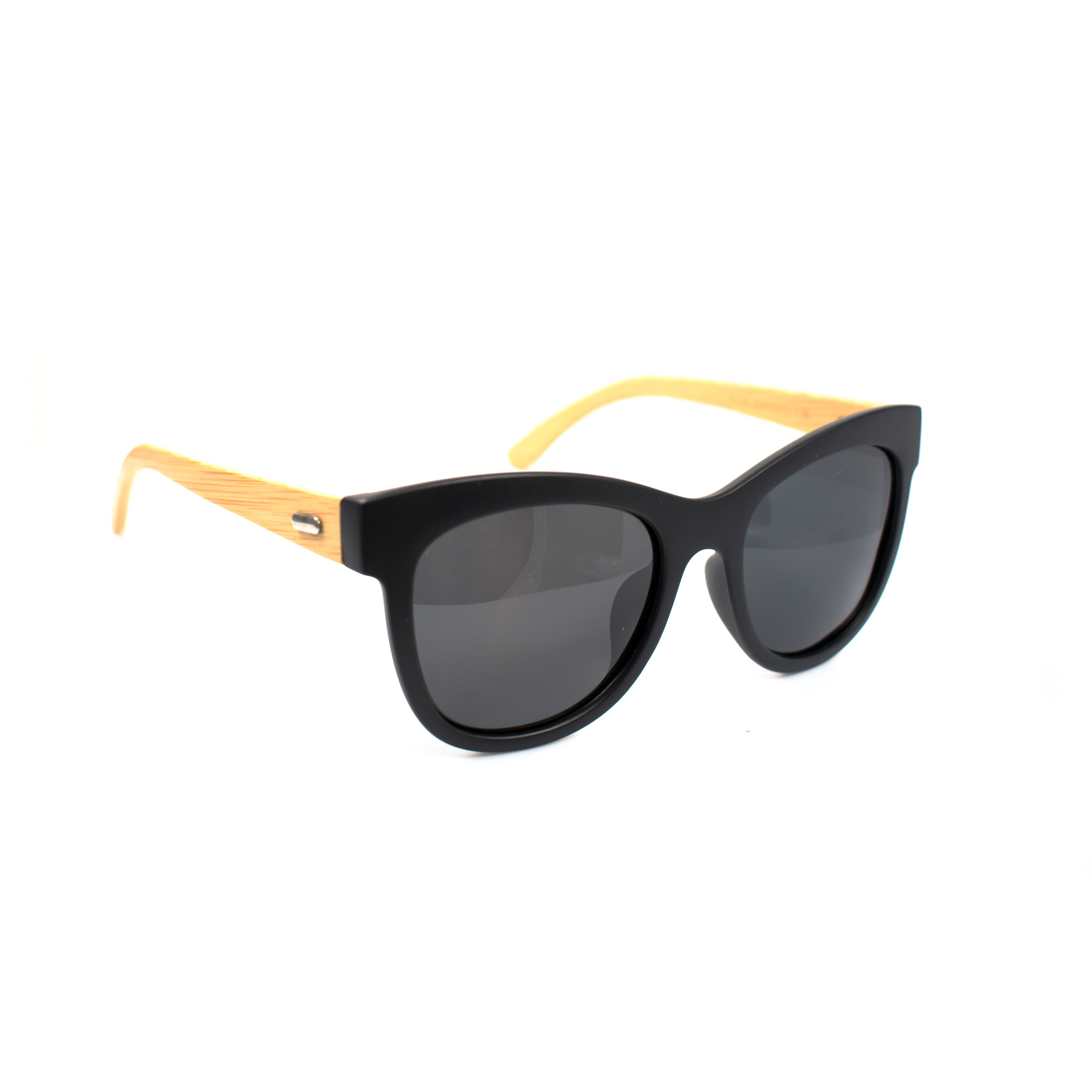 Harper Bamboo Temple Polarized Sunglasses