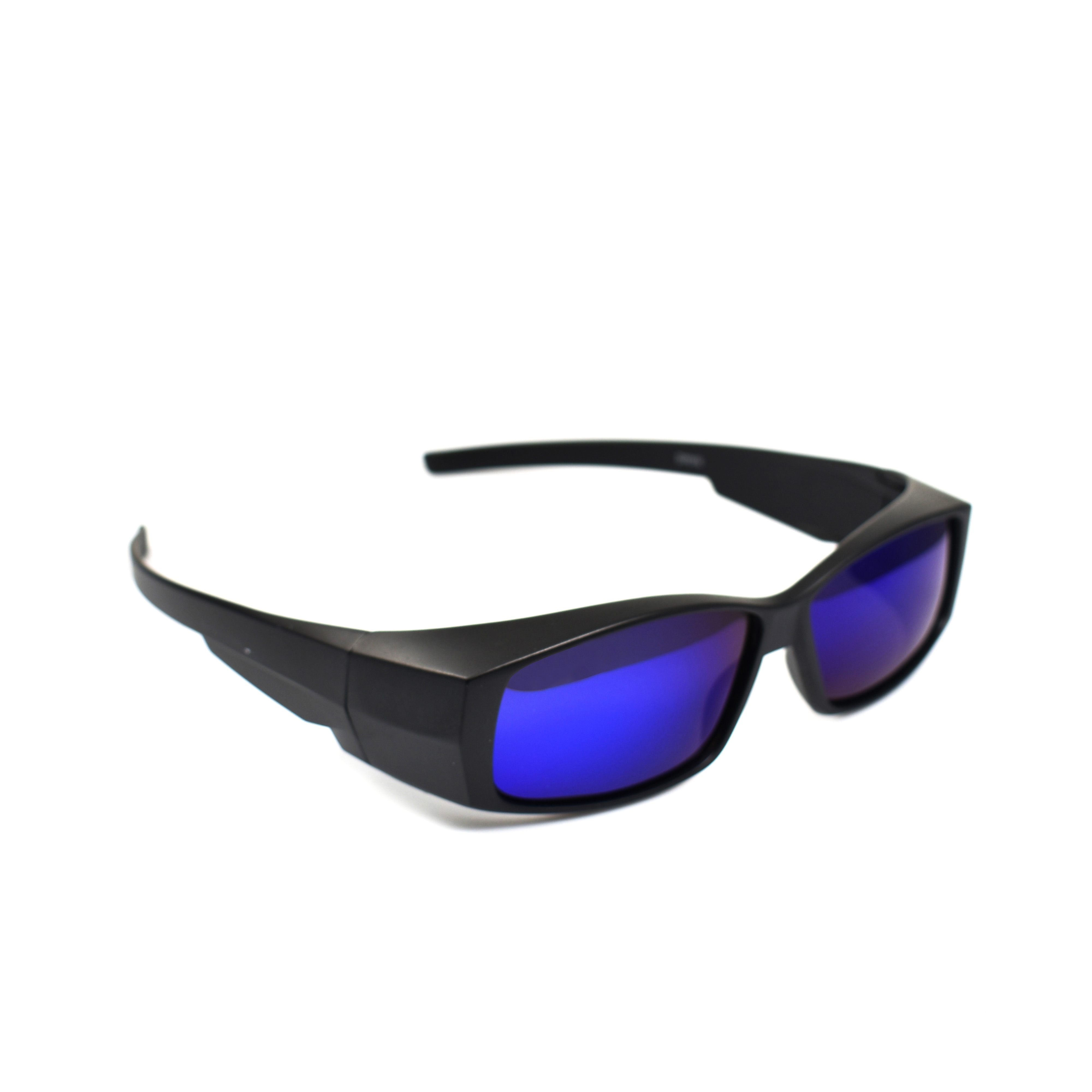 Sergio Matte Black Wearover Blue Lens