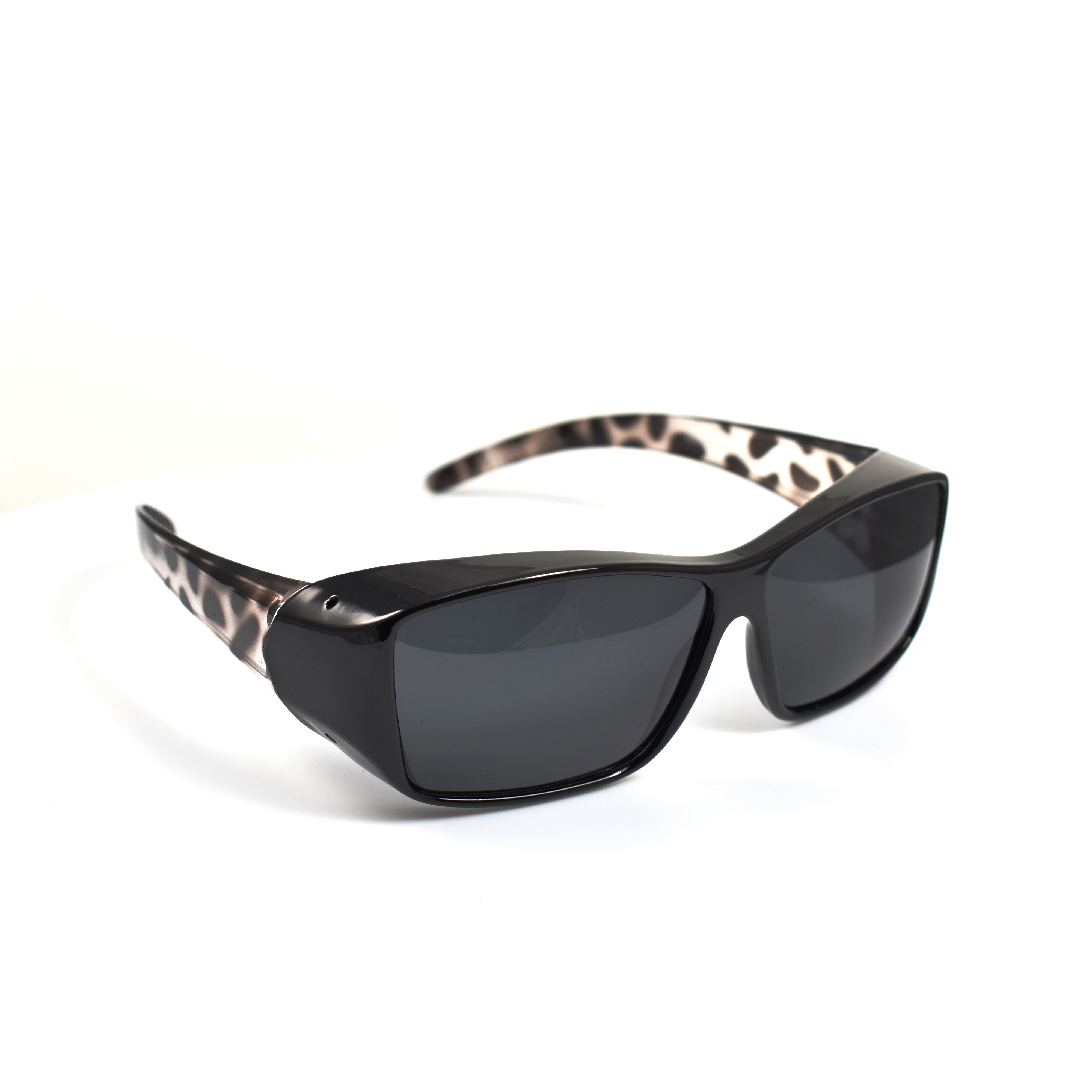 Stewart Black Spots Temple Wearover Polarized