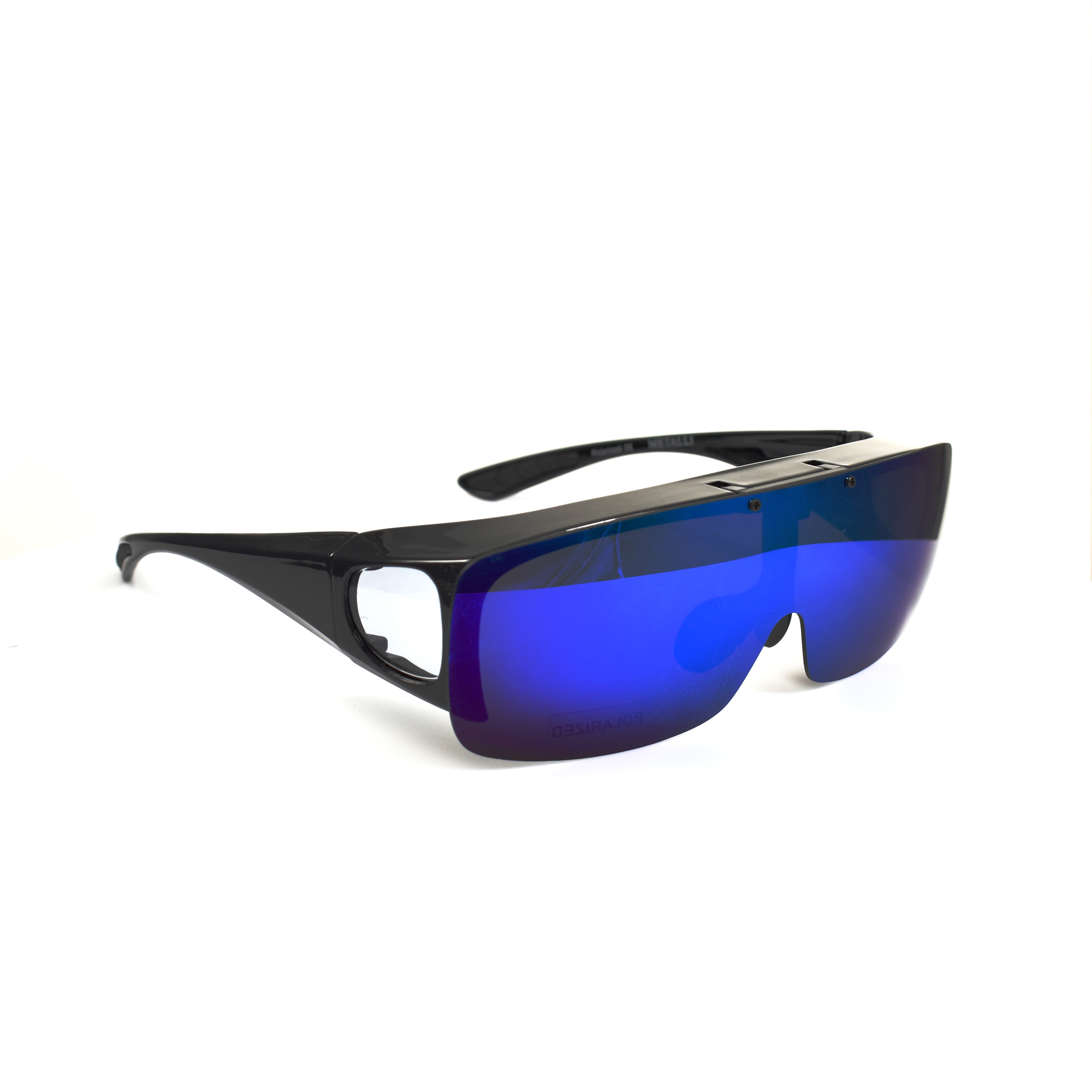 Arnold Black Flip Polarized  Blue Lenses Wearover