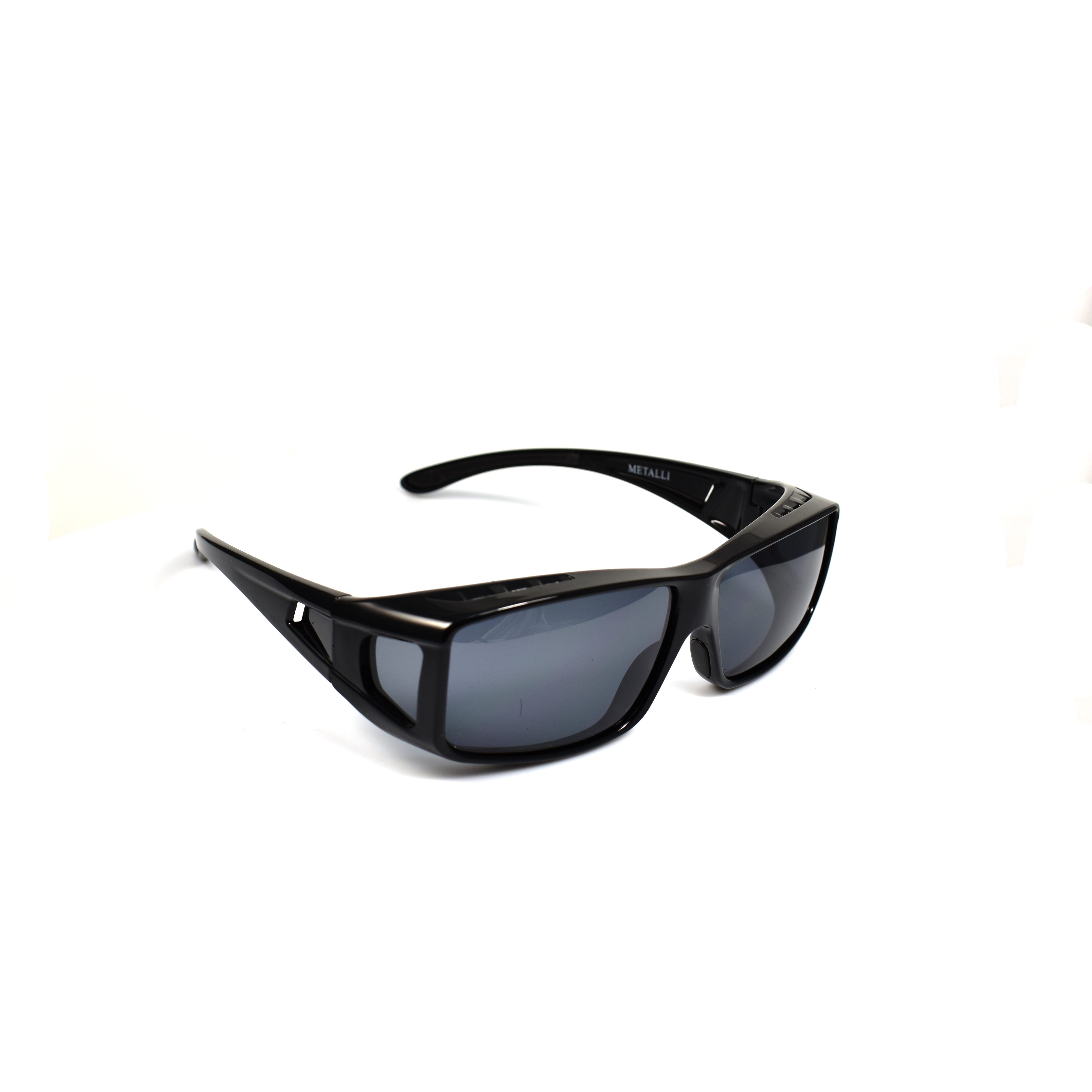Xen Black Rectangular Polarized Wearover