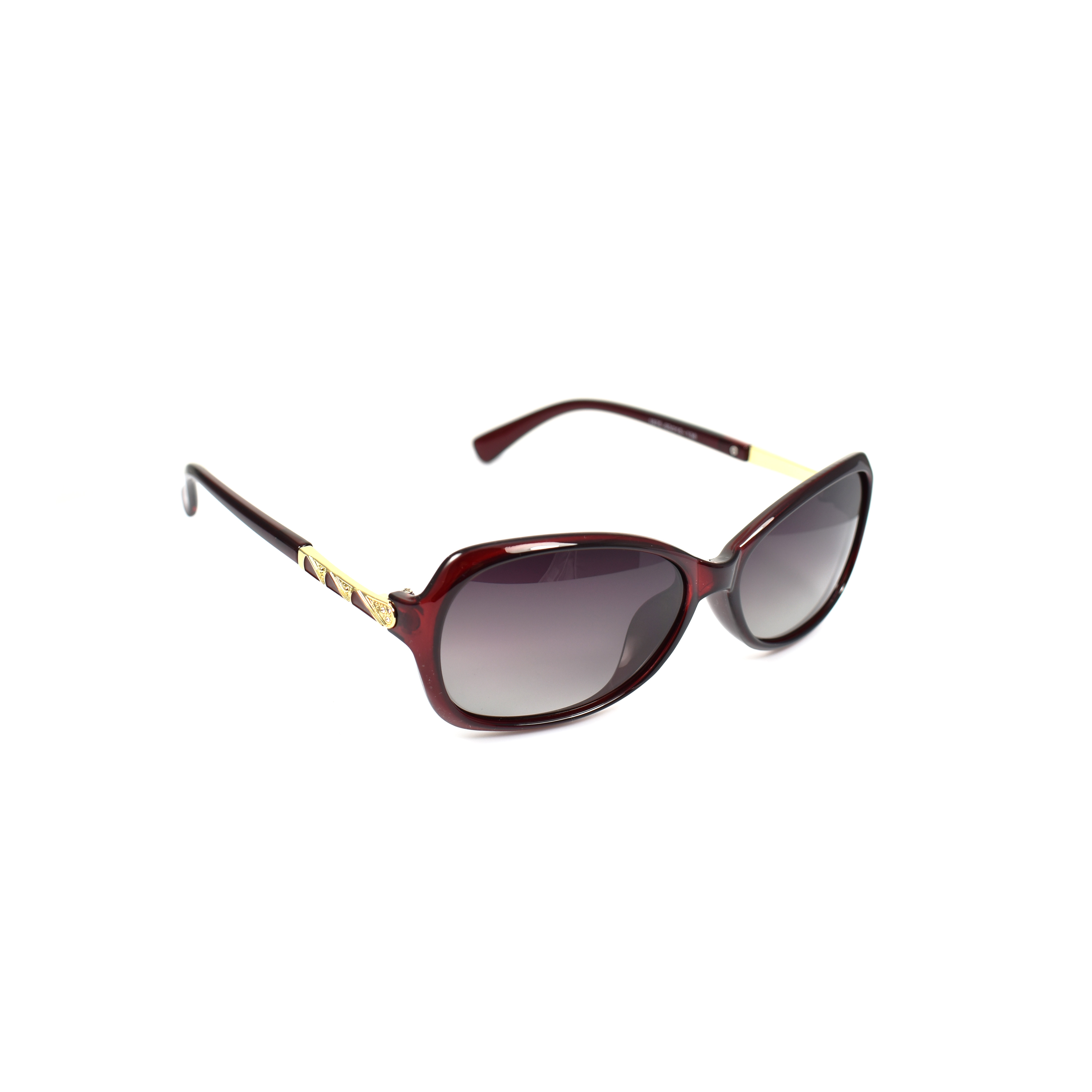 Heidi Red Polarized Gold Trim