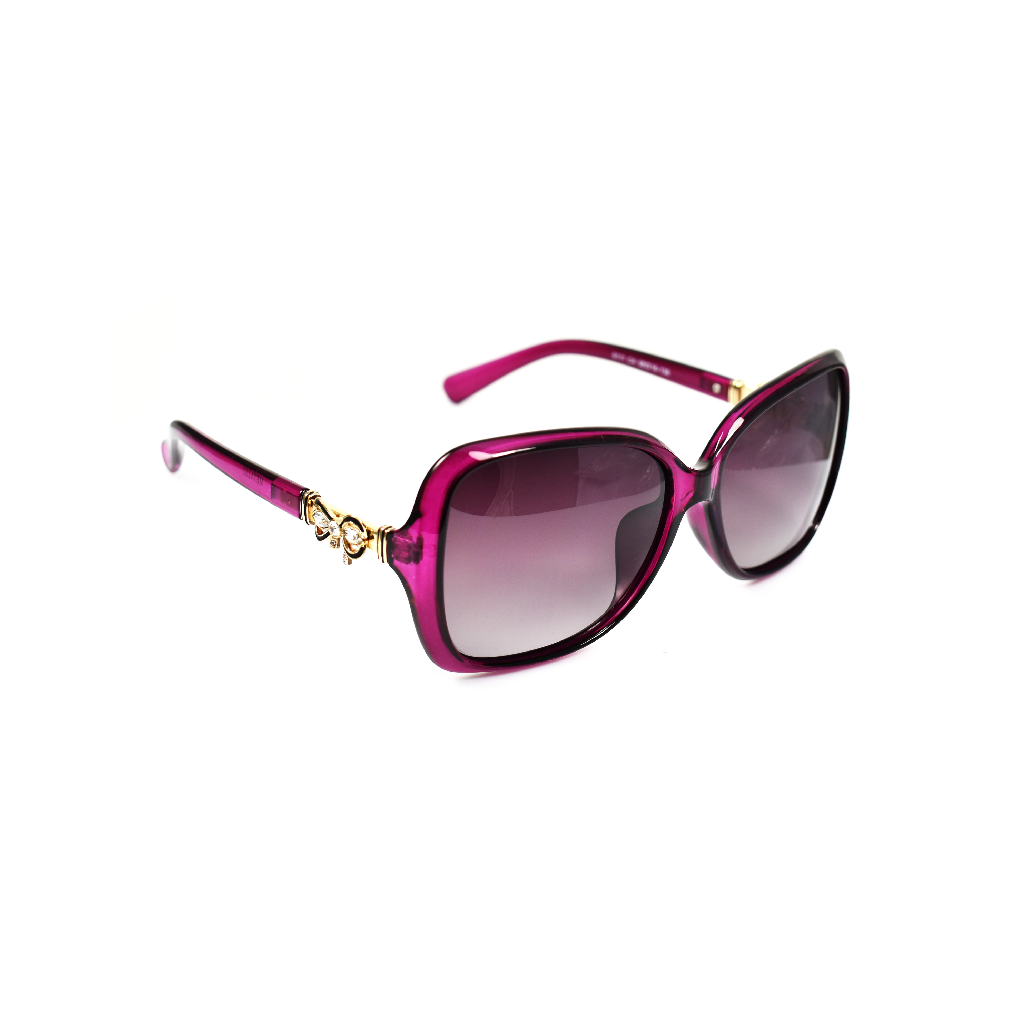 Halle Sapphire Purple Oversized Polarized Gold Detailing