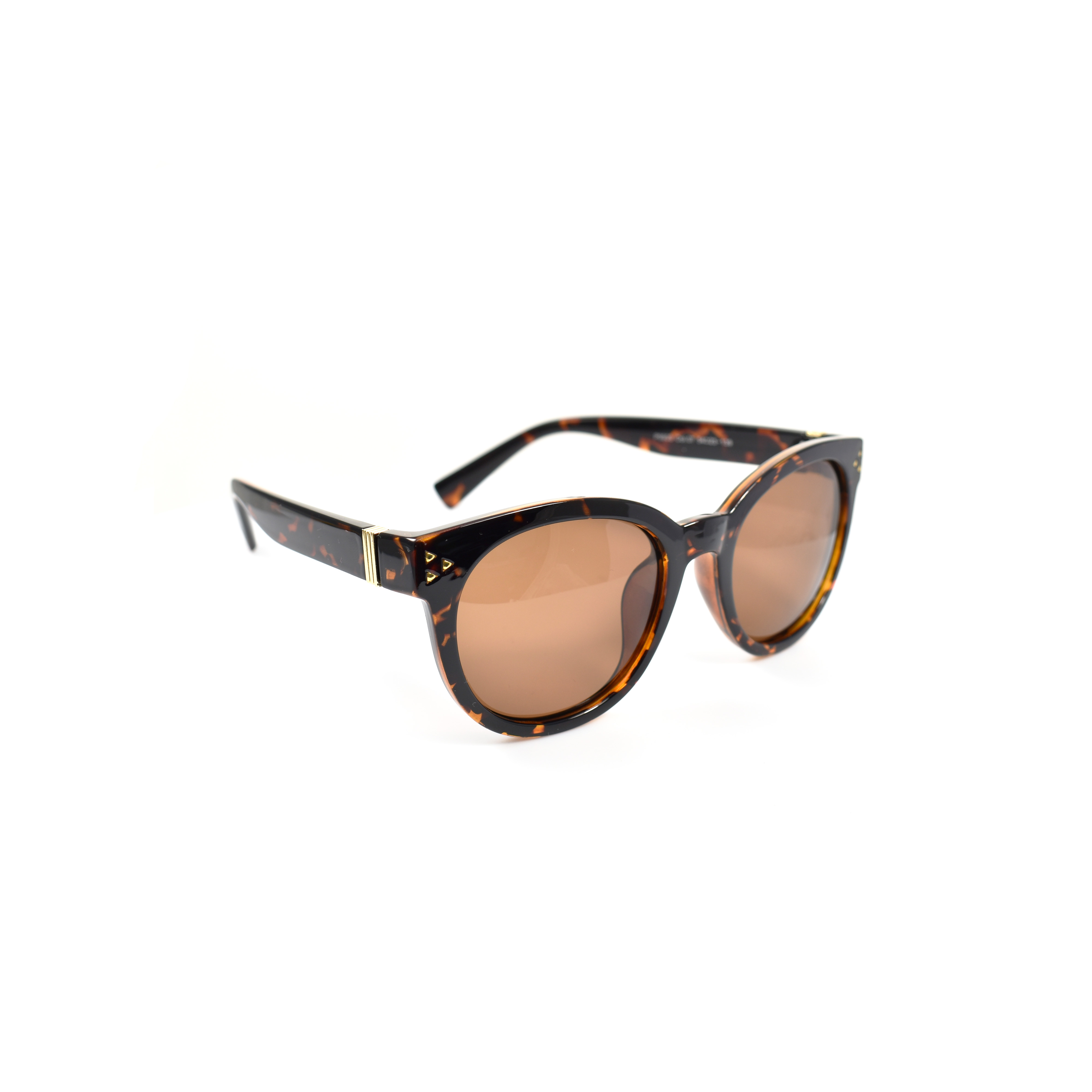 Hakidonmuya Brown Tortoise Polarized Cateye
