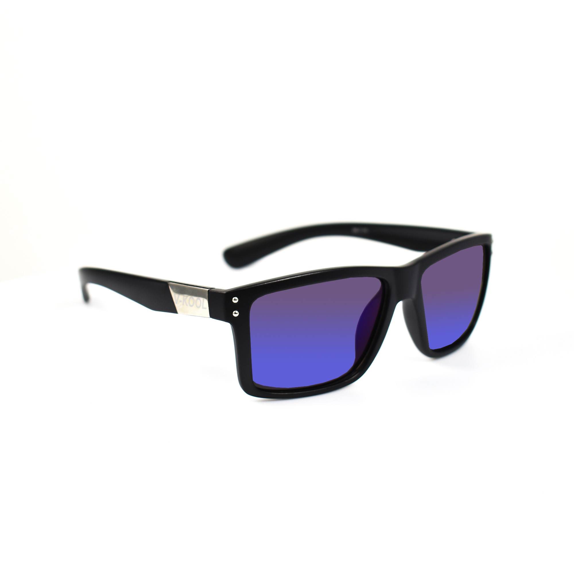 Vasyl Black Wayfarer Polarized Sunglasses